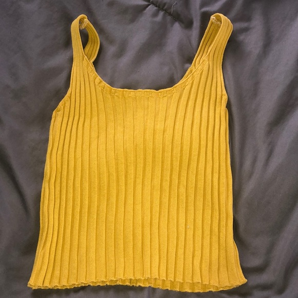 SHEIN Tops - Yellow cropped tank top
